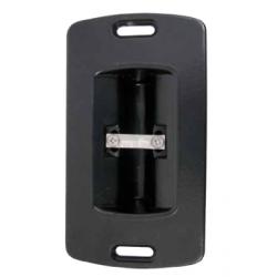 Boîtier V de réception à encastrer en Aluminium pour serrure de portail coulissant en applique.