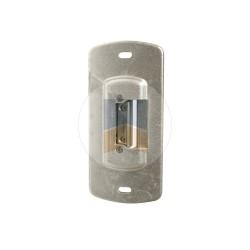 Gâche électrique réversible en applique pour portillon.