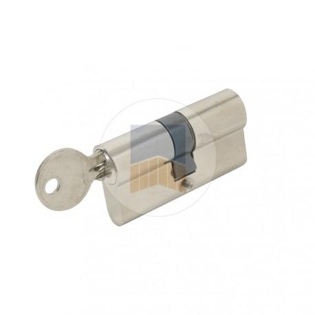Cylindre double Européen à clé variée en laiton nickelé