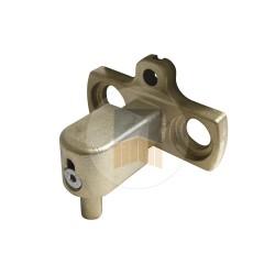 Gond à visser multiréglage deux points + sécurité en Cupro-aluminium.
