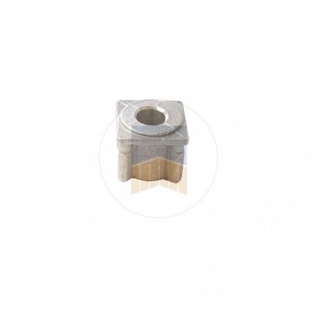 Embout percé 30x30 pour tubes épaisseur 1,2 ou 1,5.