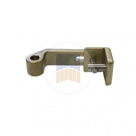 Kit avec support, articulation et système de fixation pour ouverture à 180°.