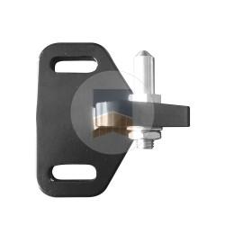 Support bas de régulateur de pente avec axe en Inox.