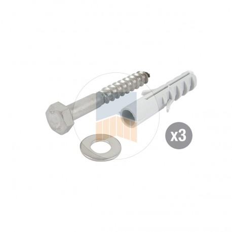 Kit de fixation pour sabot en Composite hauteur 50.