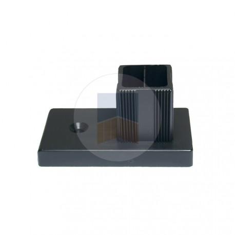 Butée pour cadre inox 30x30mm pour portail battant.