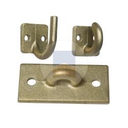 Accessoires en Cupro-aluminium pour barre de contreventement.