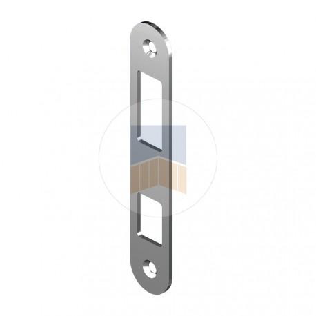 Gâche en Inox pour serrure à crochet de portail coulissant à encaster et en applique.