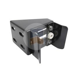 Boîtier en Aluminium quatre points de fixation avec U pour serrure de portail coulissant à encastrer, en applique