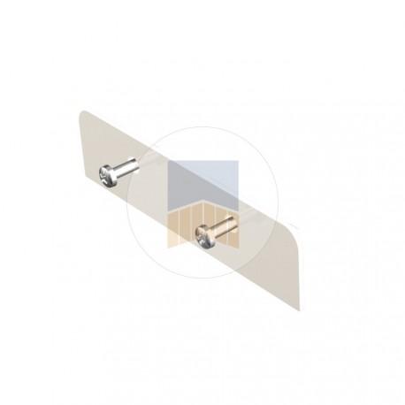 Cache en Aluminium pour profil poteau de guidage