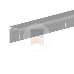 Profil de guidage en Aluminium ou cache crémaillère avec capot intégré Evolution