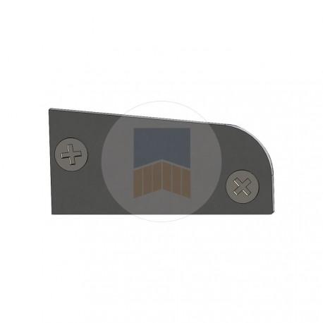 Paire de caches de finition en Aluminium pour profil de guidage ou cache crémaillère Evolution