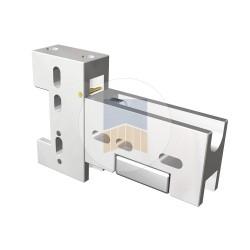 Équerre d'assemblage complète coupe droite pour cadre intégré.